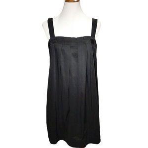 BCBGMaxAzria Pleated Sleeveless Black Shift Dress